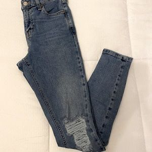 TOPSHOP Jamie Moto Ripped Skinny Jeans